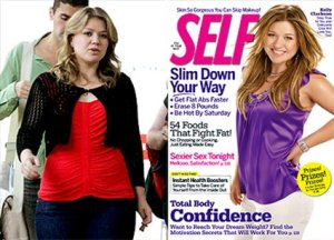 Two photos of Kelly Clarkson taken about the same time frame, yes, that's Kelly.